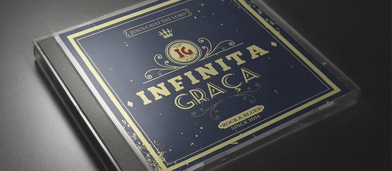 arte grafica CD infinita graça